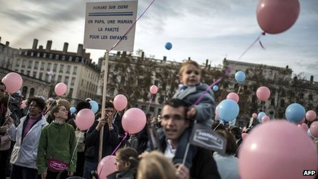 Protests in Paris last November against plans to legalise same-sex marriage